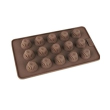 Wholesales professional factory price provided silicone material christmas 15 holes chocolate mold