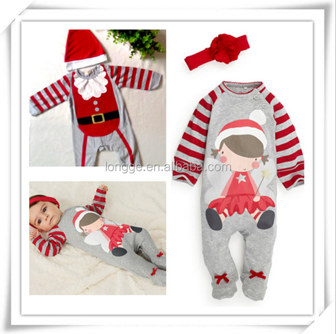 Fashionable kids winter christmas boy girl baby clothes fancy christmas clothes