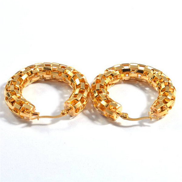 Yiwu Aceon Simple Helix Dubai Gold Jewelry Earring Designs For