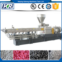 Co-roating PVC recycle twin screw extrusion machine price/Glass fiber filled black resin conductive PP hollow sheet