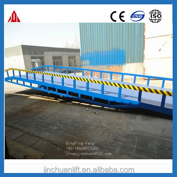 hydraulic mobile truck yard ramps/container loading unloading equipment