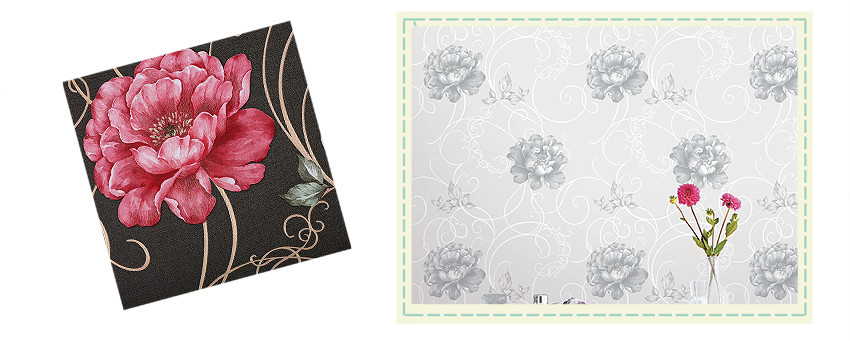 Classic Peony Design Korea Wallpaper for Home Decor