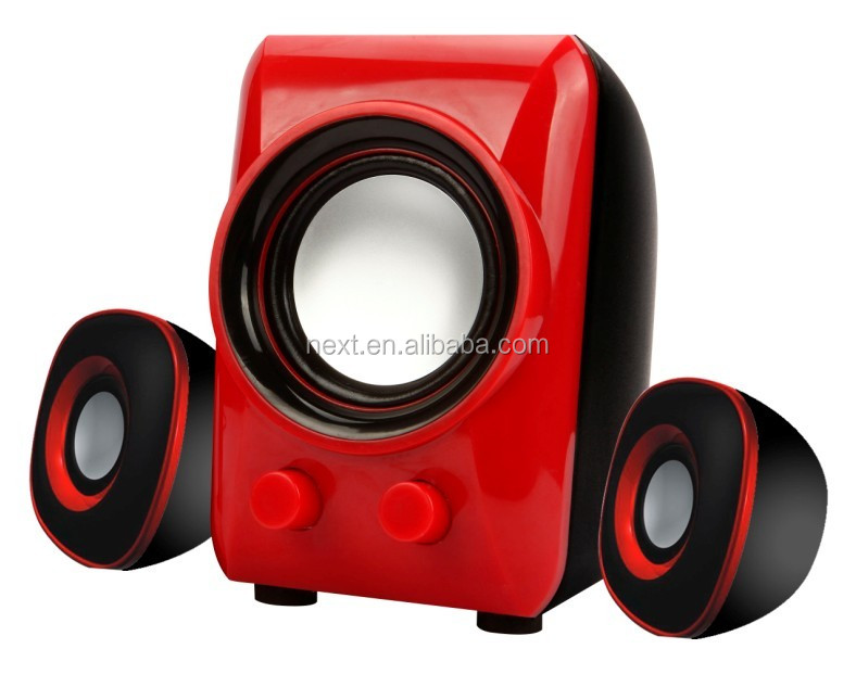 High quality stereo AC 220V and USB speaker with 3 Channels