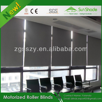 Electric motorized automatic roller blinds shades buy for Motorized roller shades price