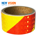 PVC double colors square/arrow checkered reflective tape for vehicles