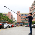 2.5M 250cm Micro Boom Pole Telescope Microphone Boompole Extension Holder Handheld Stand support