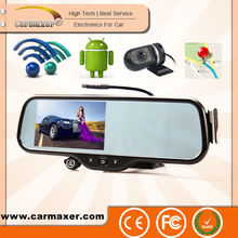 2014 ANDROID /Wifi/Navigation/BT/Back Camera Car DVR rearview mirror radar gps