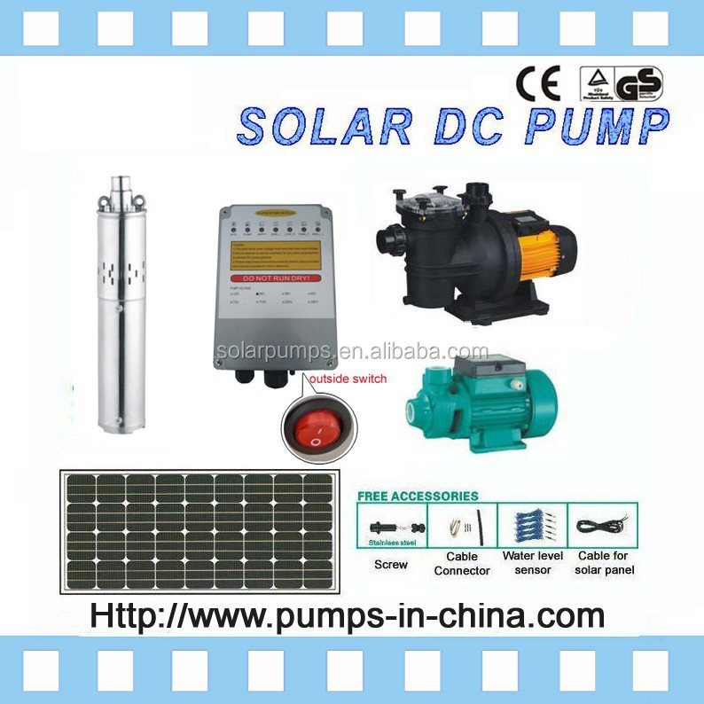 solar water pump system / submersible solar pump / solar pumps for water / 24V, 36V, 48V, 72V, 216V, 288V