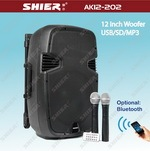 SHIER AK10-202 surround sound speaker system with sd card player VHF microphone