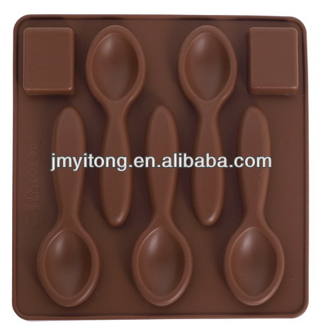 spoon shape 3d silicone chocolate molds/cookie molds