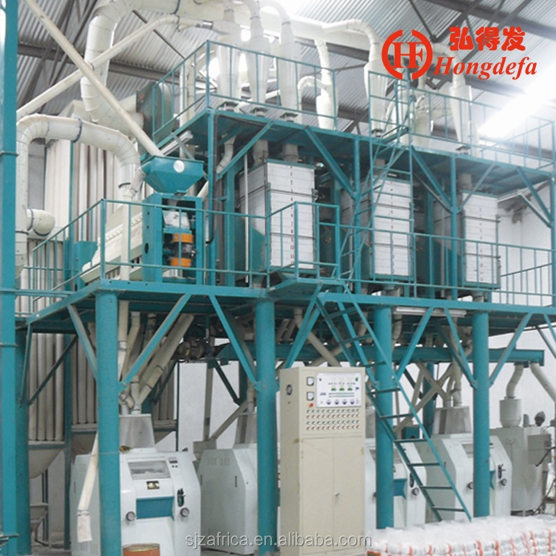 Best sell Africa maize milling machine sifted maize flour mill