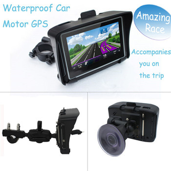 2017 Newest 4.3 Inch waterproof montorcycle GPS Navigator with Wince 6.0 System for all Vehicle