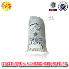 China Manufacture Disposable Plastic Drawstring Crystal 10lb Ice Bag