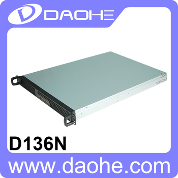 1U 3bays Storage Server Case 650mm Length Aluminum Rackmount Chassis