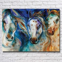 Artwork painting running horse canvas oil painting bedroom decorating canvas wall pictures for livingroom