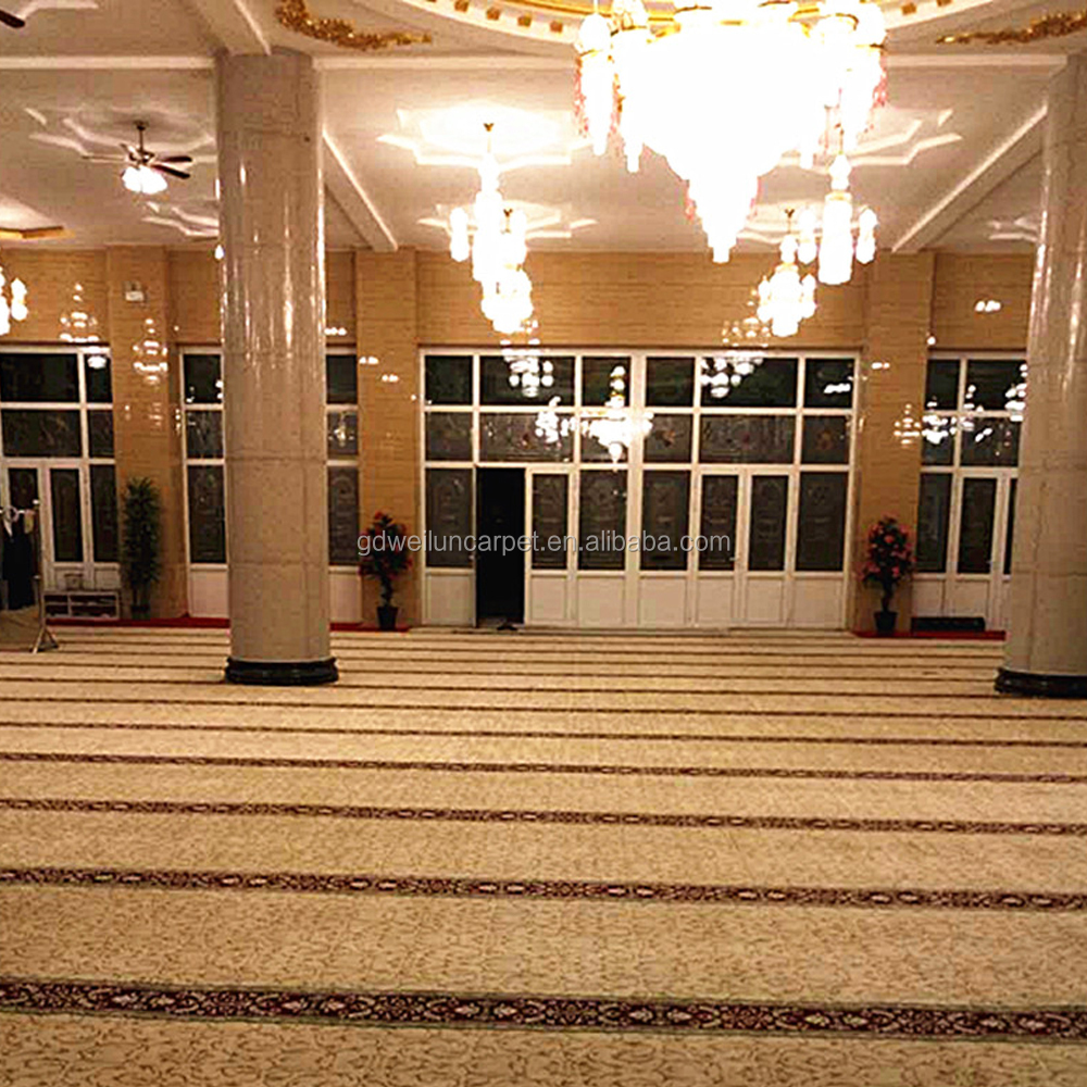 hand tufted carpets hotel hallway with white color and hand carved patterns