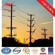 Round tapered 132kv steel power transmission line tower manufacturer in Jiangsu