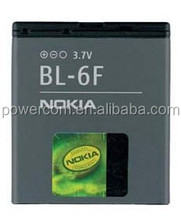 China factory price mobile phone battery BL-6F 3.7V 1100mah for Nokia N95/8GB/N78/N96/N79