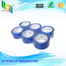 Fashion Color Carton Packaging Acrylic Water Based Glue Blue Tape