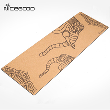 OEM Eco Friendly Wholesale Big Pilates Custom Printed Cork Yoga Mat