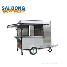 Outdoor Mobile coffee cart /food truck/food trailer with big wheels