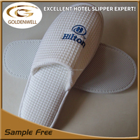 wholesale 100% cotton washable waffle hotel amenities disposable slippers