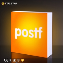 China Manufacturer Custom Outdoor Advertising led Acrylic Box Light Logo Letter Signs