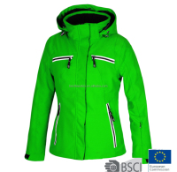 Women New Design Colourful Ski Jacket Green