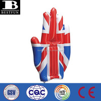 Factory customized Union Jack giant inflatable hands promotional pvc cheering hand advertising hand