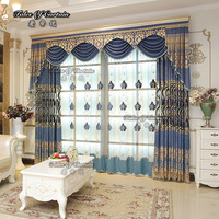 Embroidered curtain sheer voile fabric drapes
