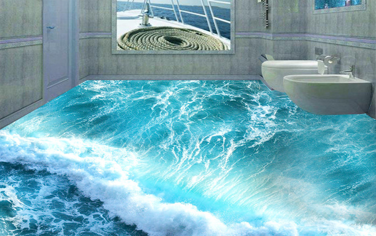 New Pictures 3d Designs 3d Flooring Tiles For Bathroom On The Floor ...