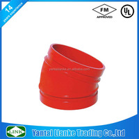 fm ul ulc ductile iron pipe fitting 22.5 degree elbow