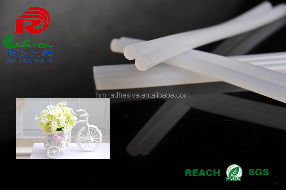 crystal clear hot melt glue stick used at DIY handicraft making