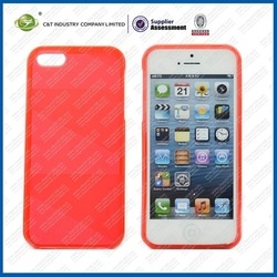 Durable top sales tpu brushed case for iphone 5