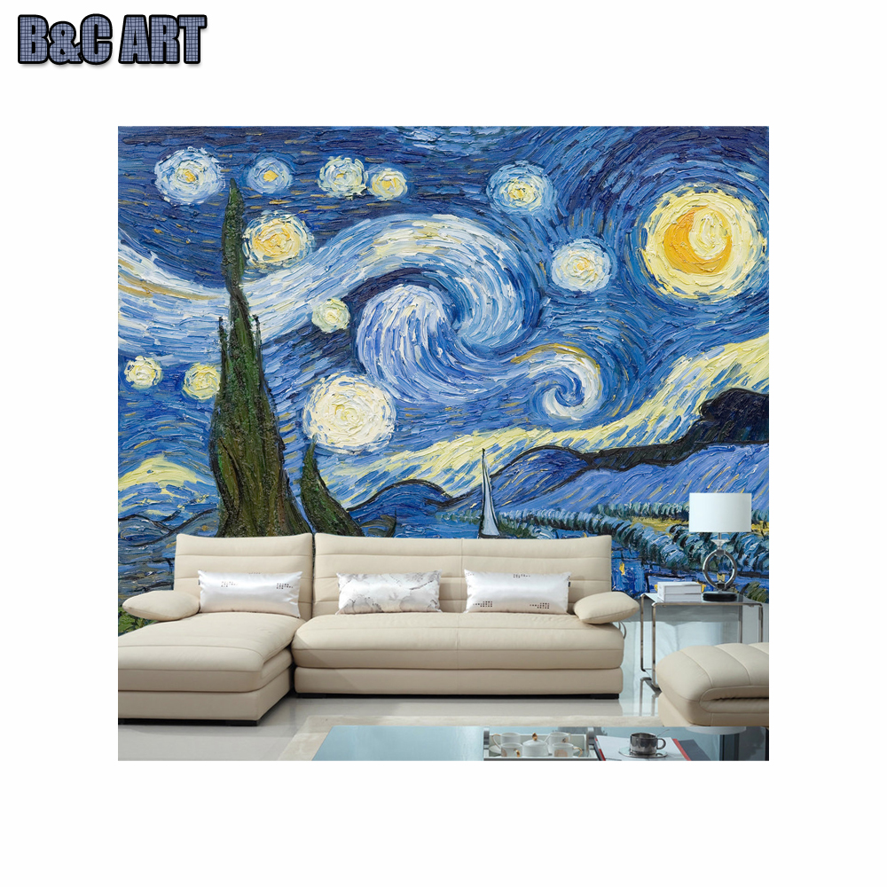 3d Wallpaper Mural Famous Artist Painting Chinese Wall Murals