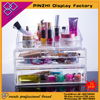 Acrylic Makeup Organizer Cosmetic Jewerly Display Box 2 Piece Set by Acrylic Case