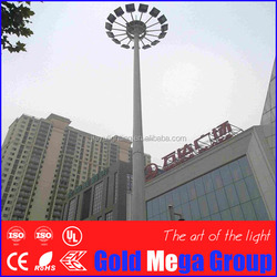 Made in China 20m to 45m high mast light Anti-corrosive Galvanized Street Lingt Pole High Mast With Two Arms and powder coated