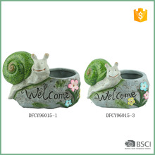 Snail Succulent Planter Ceramic Flower Pot Desktop Mini Ornaments