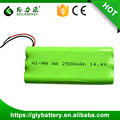 2500mAh 14.4V NI-MH AA Battery Pack For Roomba Sweeper