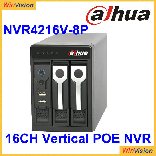 Dahua New Arrivals Vertical Network Video ecorder NVR4208/4216/4232V-8P With PoE Ports Support 5MP IP Camera