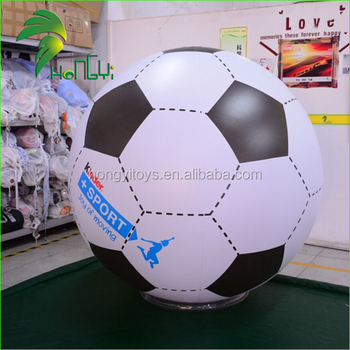 Balloon Type Promotional Inflatable Football , Advertising Soccer Shape Balloon For Sale