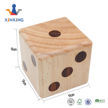 Giant wooden double dice 9cm dice game for kids and Adult