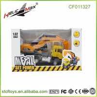 1:32 die cast cars truck metal excavators scale model