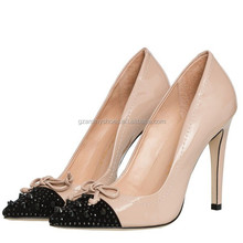 Women shoes 2015 fashion high heel elegant pointy toe pump shoe for lady made in China