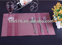 Polyester mesh fabric/pvc placemat