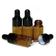 High quality 3ml 5ml 10ml 30ml mini amber essential oil glass dropper bottle with child safe dropper wholesale
