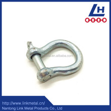 Hardware Rigging hot dip galvanized Anchor Bow Shackle With Safety Pin