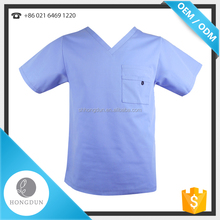 Low Price Cheap Cotton Nursing Medical Uniform Stretch V-neck Scrub Tops for men