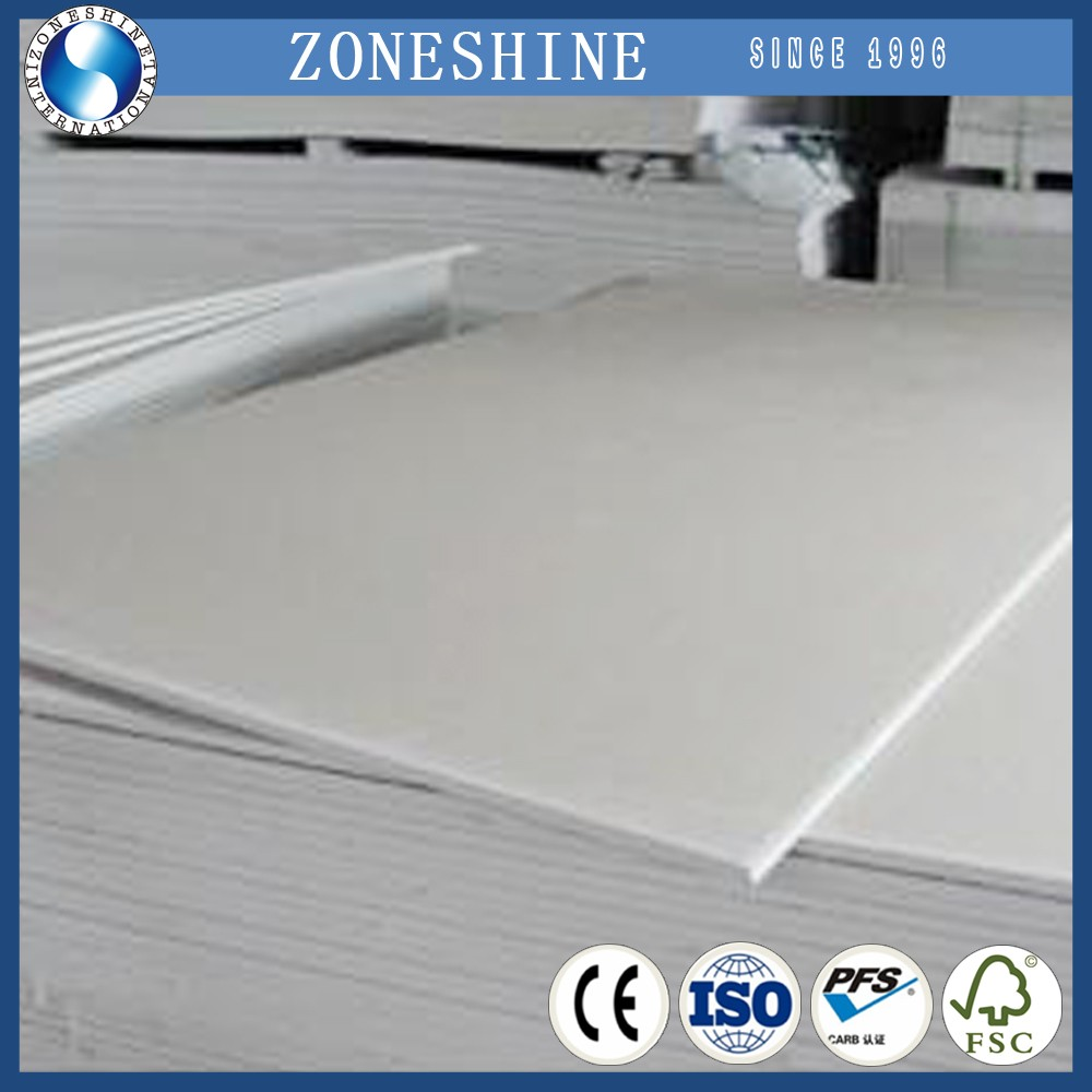 9mm 12mm 9.5mm gypsum board standard size