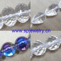 semi precious stone clear quartz beads, round 4-16mm, 16-inch per strand, used as necklace beads and bracelet beads
